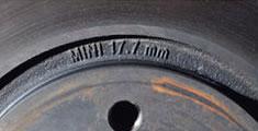минимально допустимая толщина переднего тормозного вентилируемого диска