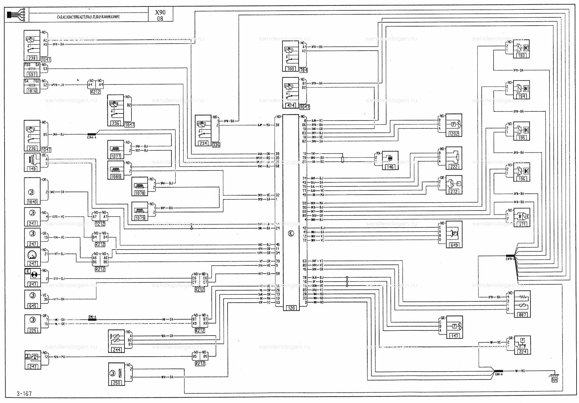 Электросхемы - Renault Logan / Рено Логан